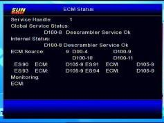 Insat 4B at 93.5 e_SUN Direct dth_DVB-S2-MPEG-4-HD Samsung DSB-B580R menu_ECM status_24